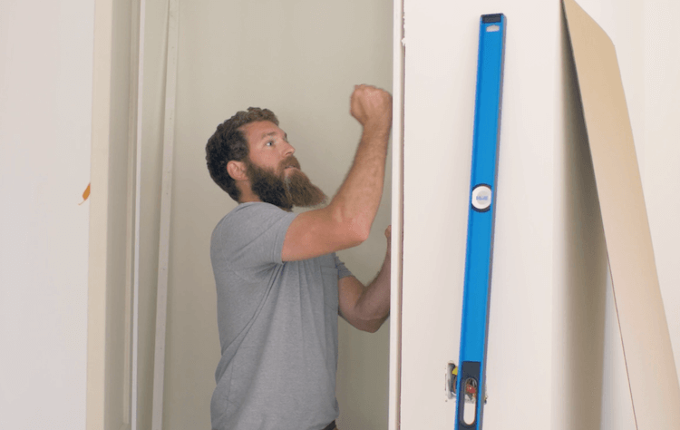 How to Install Prehung Interior Door with Jamb Switch16
