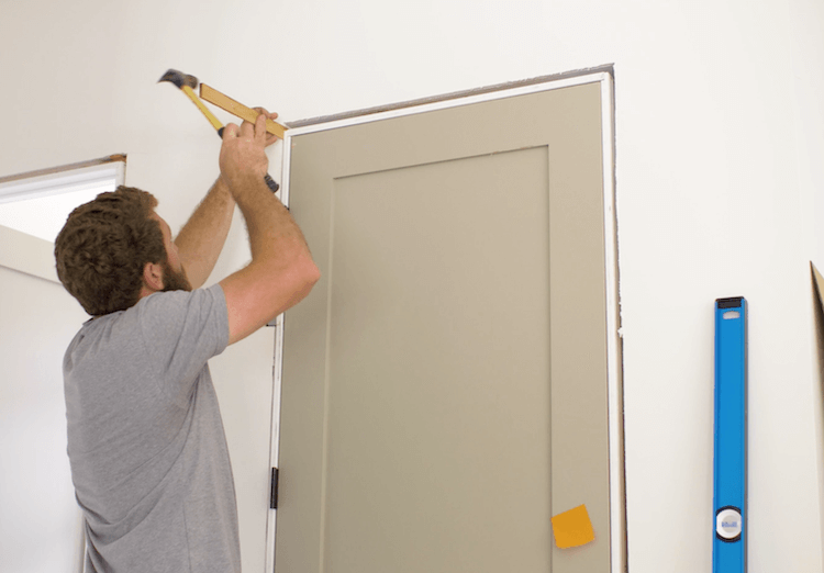 How to Install Prehung Interior Door with Jamb Switch17