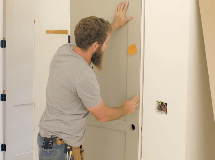 How to Install Prehung Interior Door with Jamb Switch19