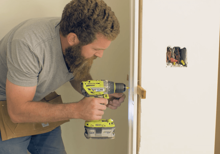 How to Install Prehung Interior Door with Jamb Switch20