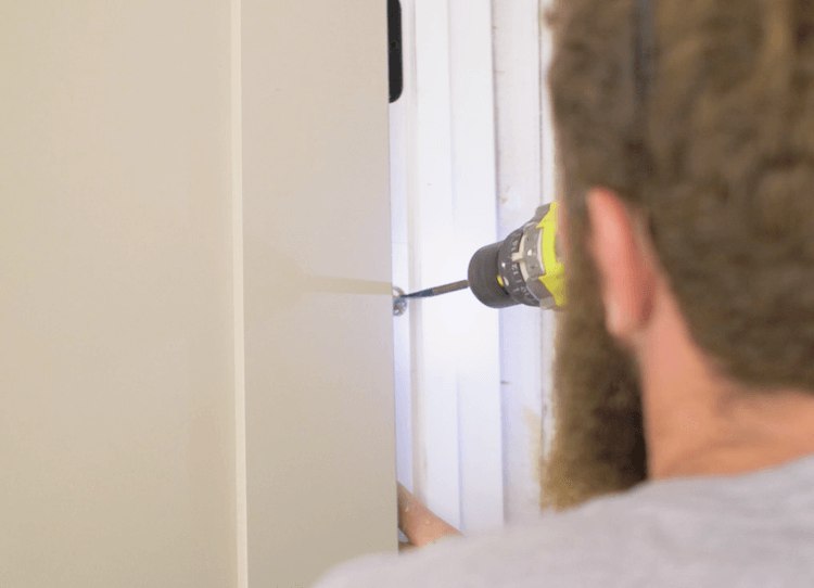 How to Install Prehung Interior Door with Jamb Switch6