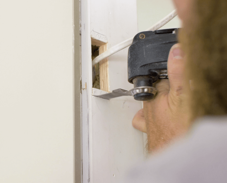 How to Install Prehung Interior Door with Jamb Switch9