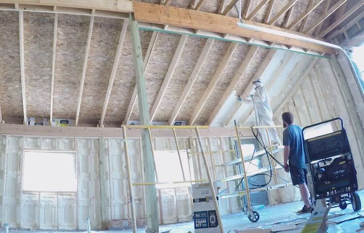 Insulating with Spray Foam Rogue Engineer 13