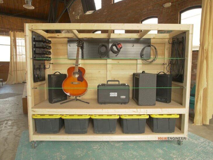 DIY Plans Portable Garage Storage Shelves Rogue Engineer 2