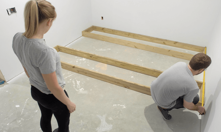 How to build a theater riser Step 1