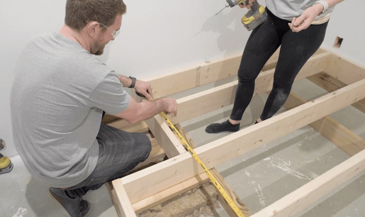 How to build a theater riser Step 5