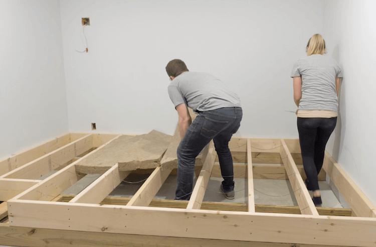 How to build a theater riser Step 6