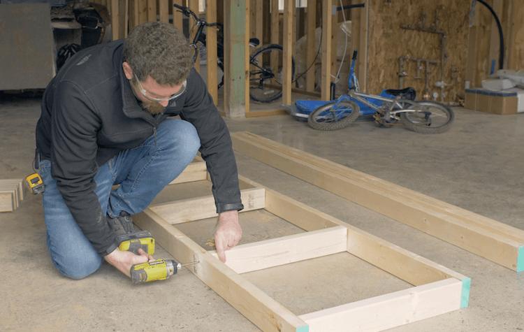 Portable Garage Storage Shelves DIY Plans1
