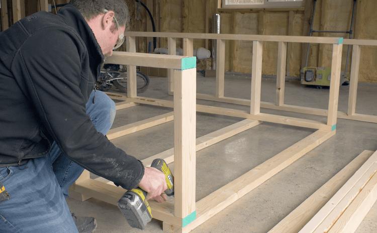 Portable Garage Storage Shelves DIY Plans2