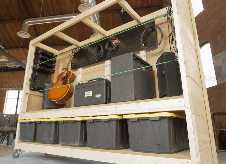 Portable Garage Storage Shelves DIY Plans8