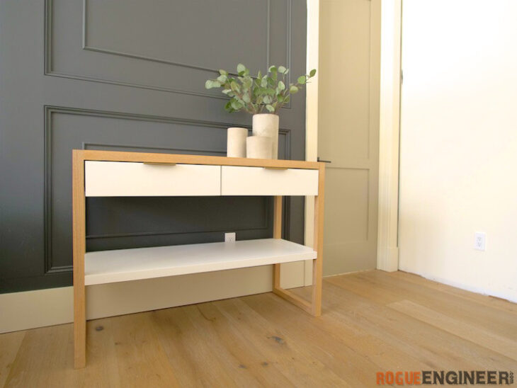 DIY Modern Console Table Plans Rogue Engineer 1
