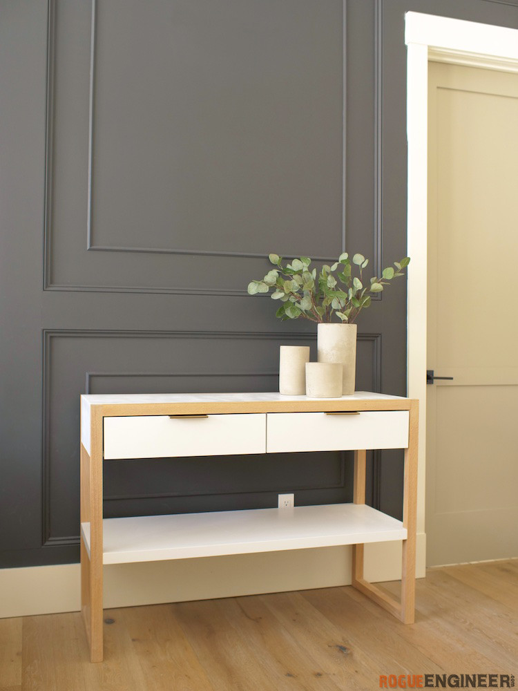 DIY Modern Console Table Plans Rogue Engineer 2