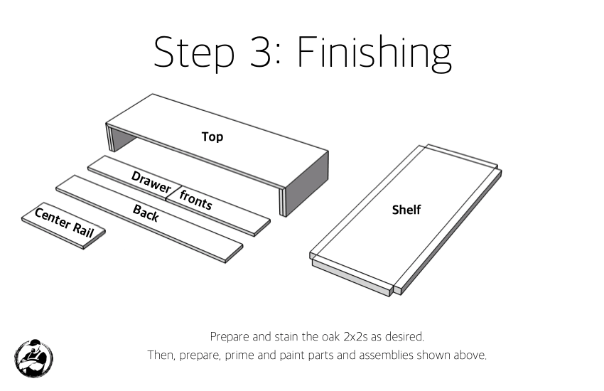 DIY Modern Console Table Plans Step 3