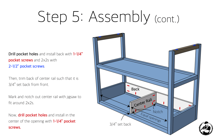 DIY Modern Console Table Plans Step 5