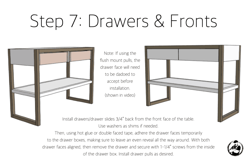 DIY Modern Console Table Plans Step 7