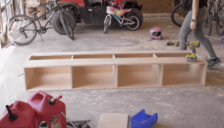 DIY Mudroom Bench 1