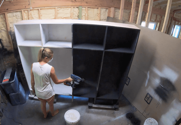 How to Build Mudroom Lockers 15
