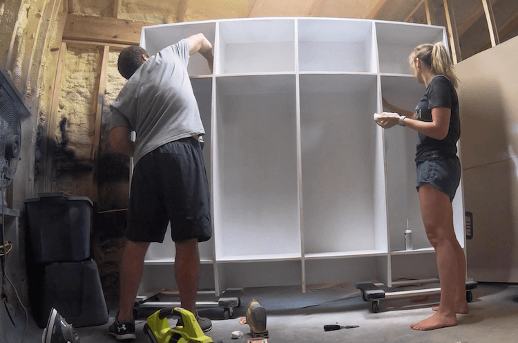 How to Build Mudroom Lockers 16