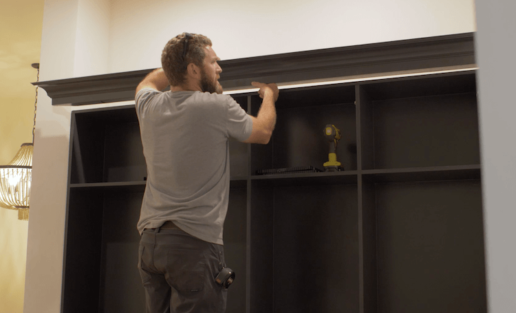 How to Build Mudroom Lockers 19