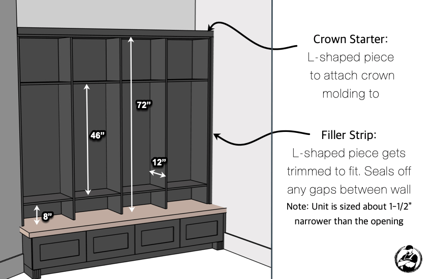 How to Build Mudroom Lockers Overview