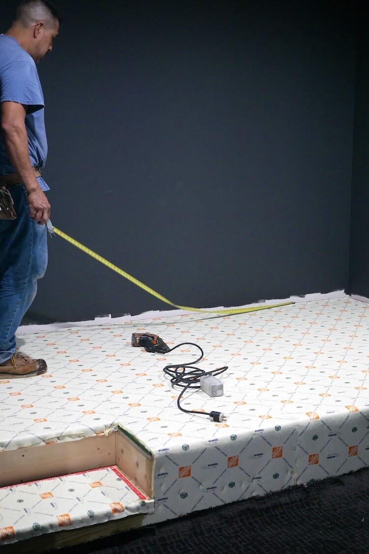 Theater Room Carpet Install 10
