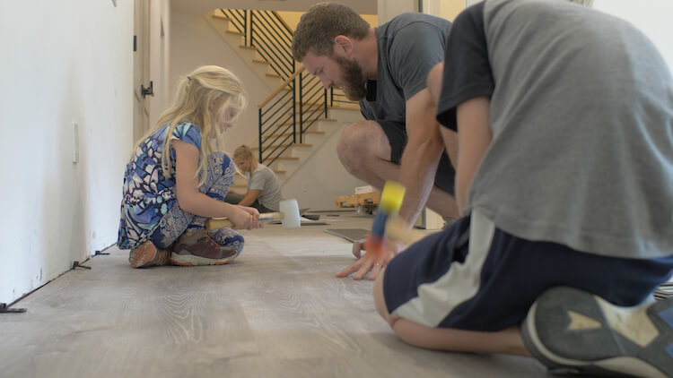 How To Install Vinyl Plank Flooring, How To Install Vinyl Flooring In A Basement