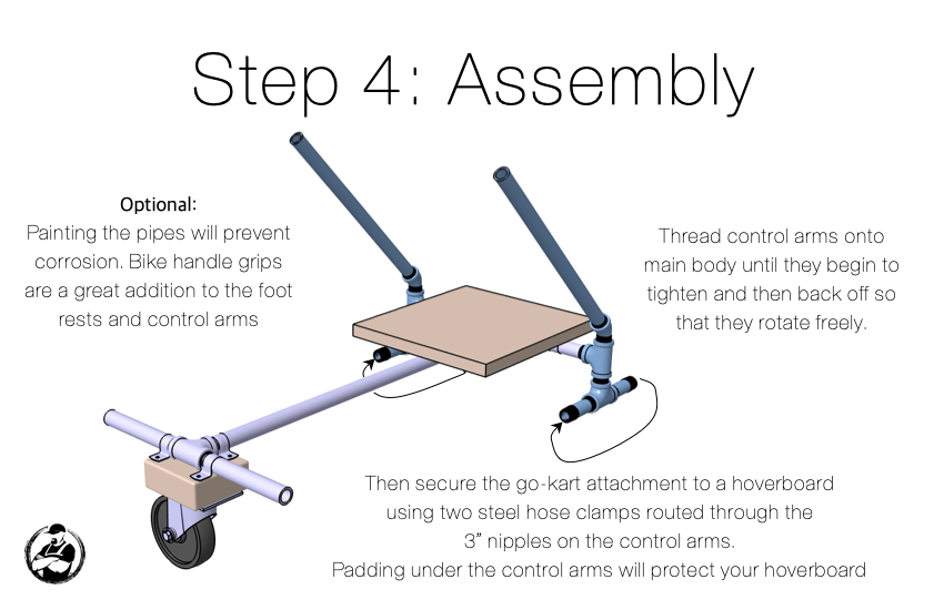 DIY Hoveboard Go Kart Attachment Step 4