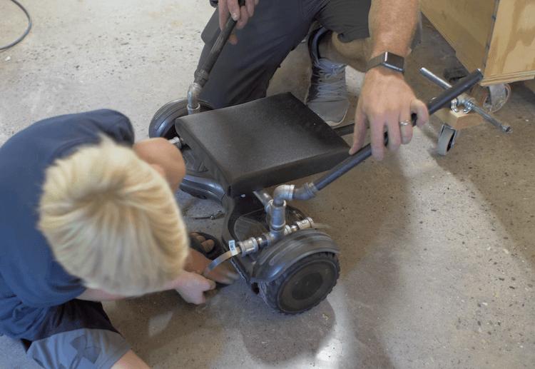 DIY Hoverboard Go Kart Attachement 14