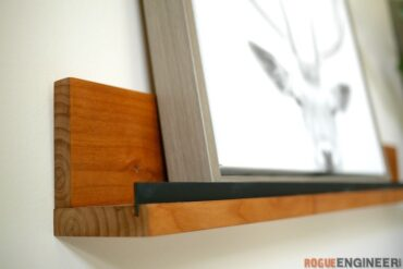 DIY Simple Display Ledge Shelf Plans Rogue Engineer 2