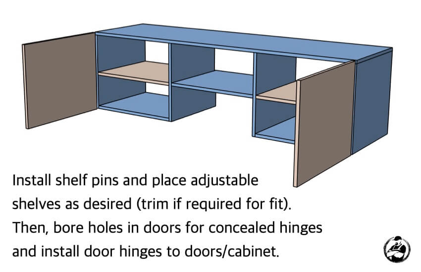 Floating Media Console Plans Step 4 Diagram