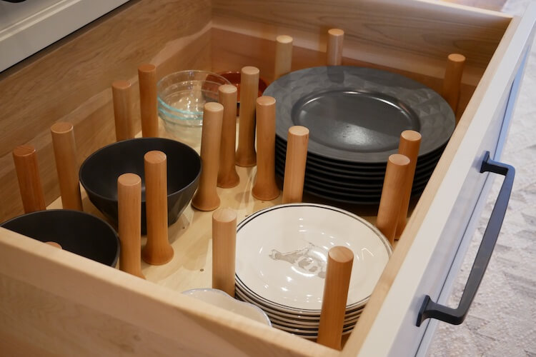 Wooden Peg Drawer Organizer