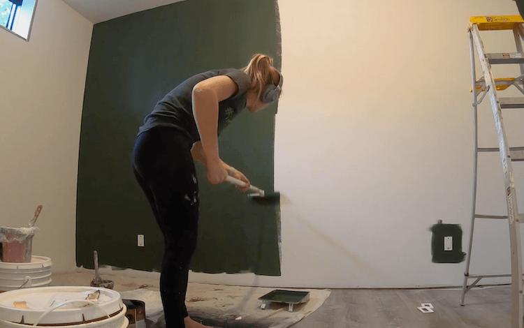 DIY Geometric Accent Wall Tutorial Step 1