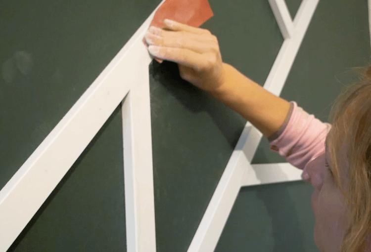 DIY Geometric Accent Wall Tutorial Step 13