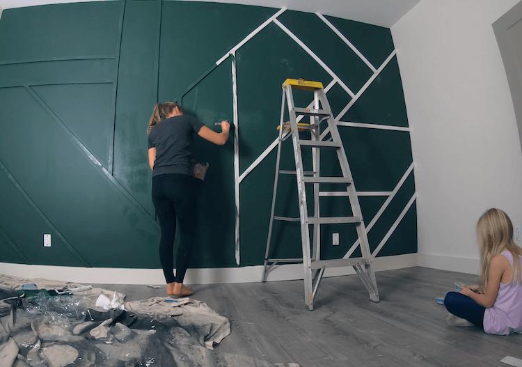 DIY Geometric Accent Wall Tutorial Step 15
