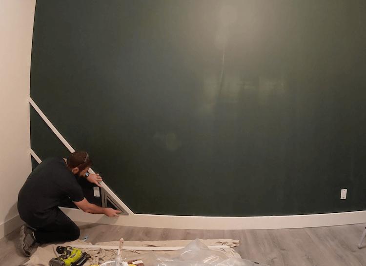 DIY Geometric Accent Wall Tutorial Step 3