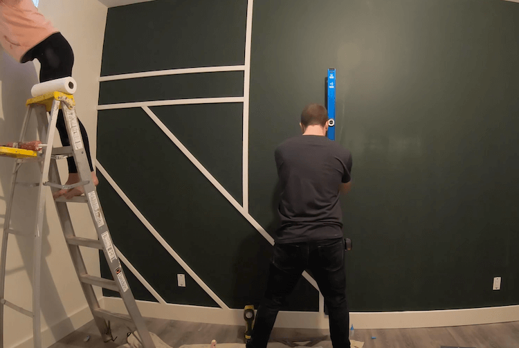DIY Geometric Accent Wall Tutorial Step 5