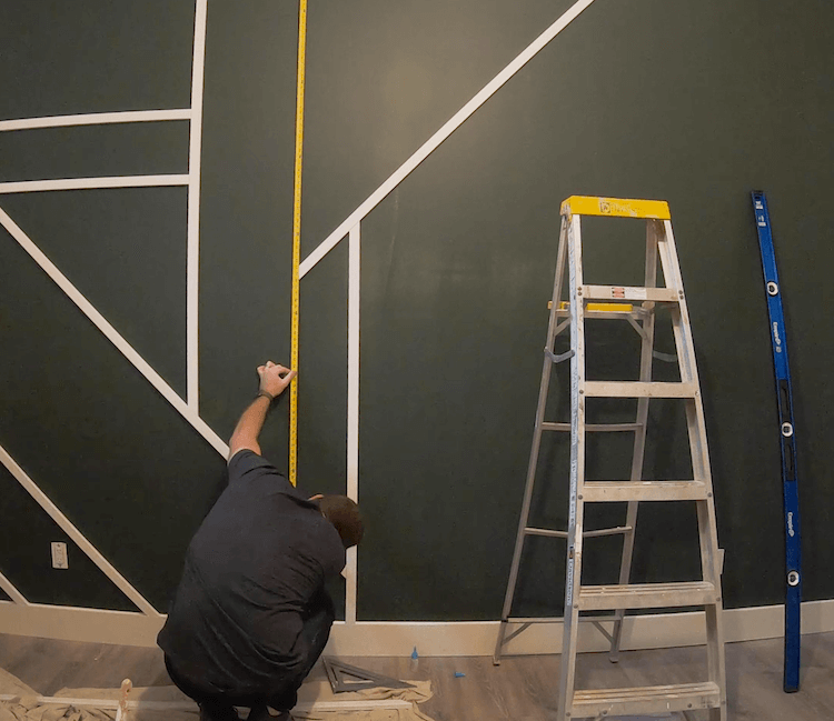 DIY Geometric Accent Wall Tutorial Step 6