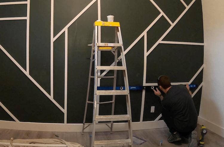 DIY Geometric Accent Wall Tutorial Step 7