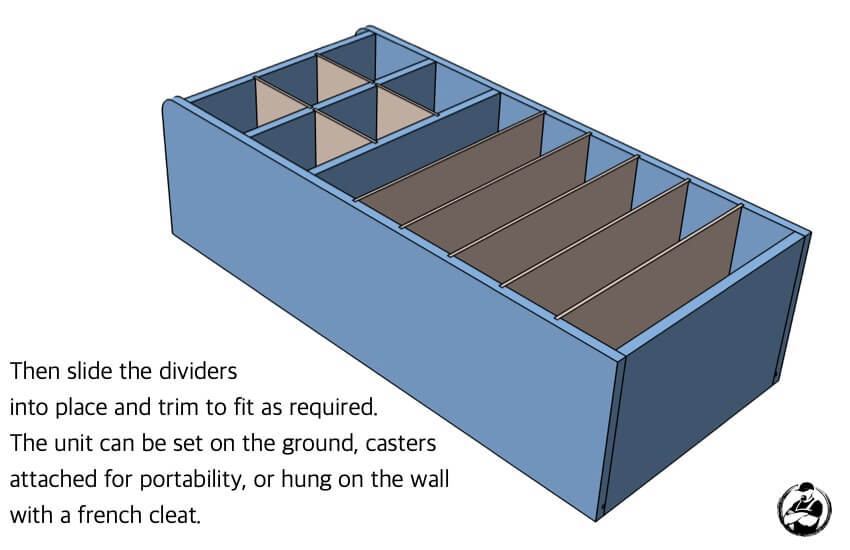 DIY Small Parts Organizer Plans Step 5