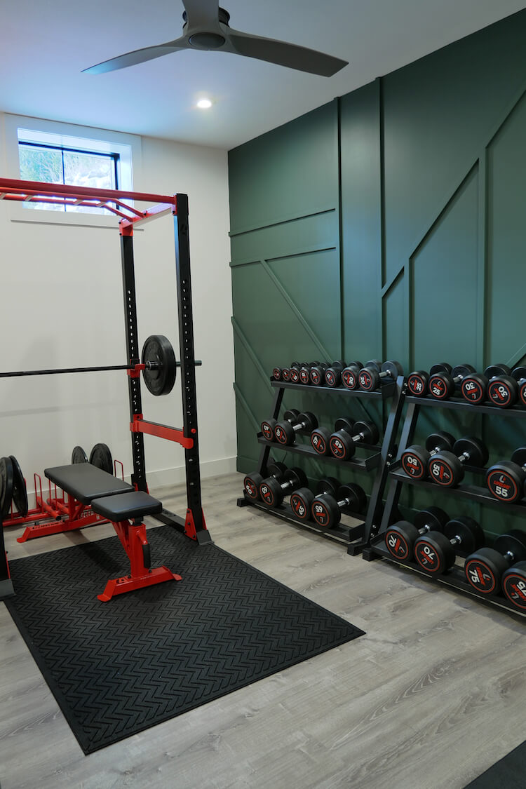Home Gym Geometric Accent Wall Rogue Engineer 12
