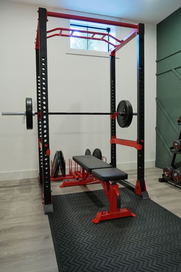 Home Gym Geometric Accent Wall Rogue Engineer 2