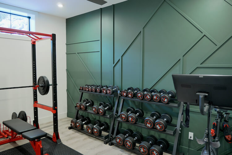 Home Gym Geometric Accent Wall Rogue Engineer 3