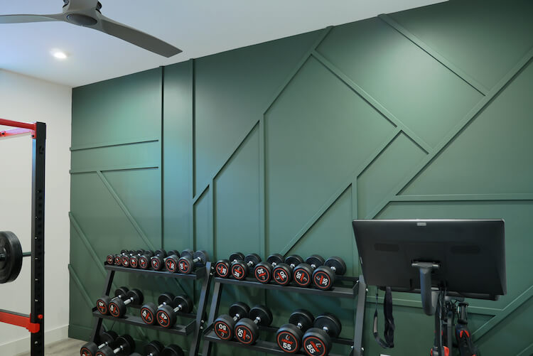 Home Gym Geometric Accent Wall Rogue Engineer 4
