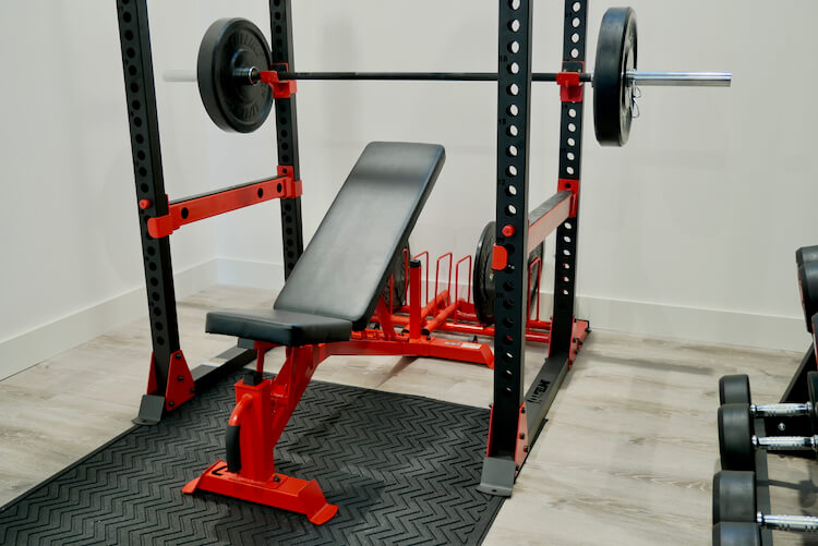Home Gym Geometric Accent Wall Rogue Engineer 7