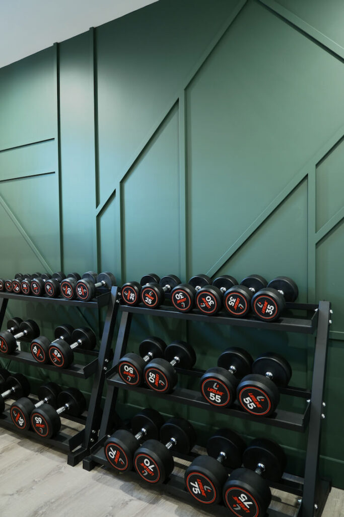 Home Gym Geometric Accent Wall Rogue Engineer 9