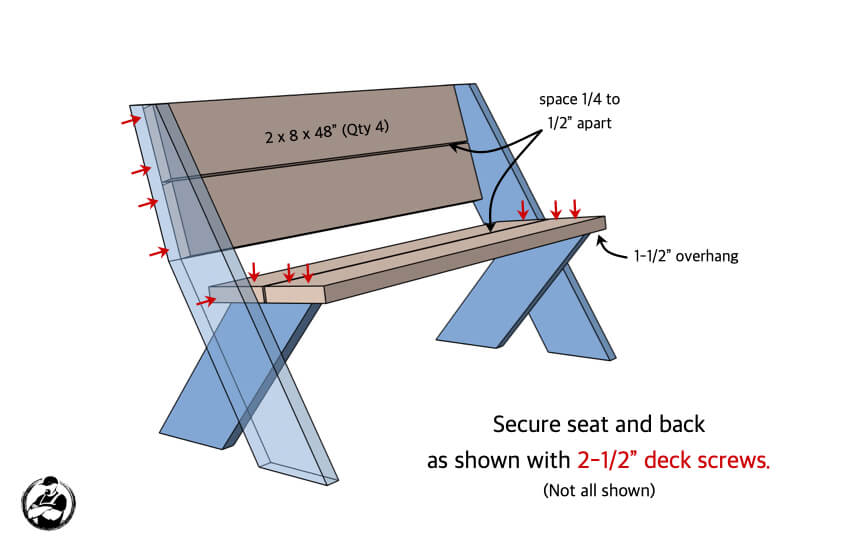 DIY Easy Outdoor Bench Plans Step 3 1