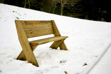DIY Easy Outdoor Bench with Back Plans Rogue Engineer 2
