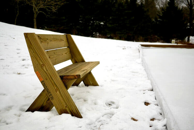 DIY Easy Outdoor Bench with Back Plans Rogue Engineer 3