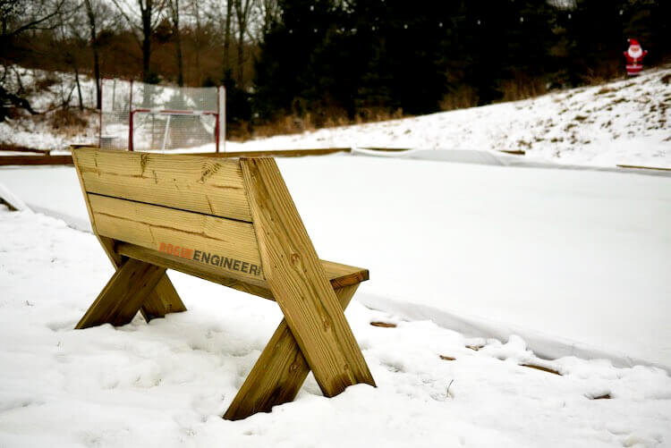 DIY Easy Outdoor Bench with Back Plans Rogue Engineer 4