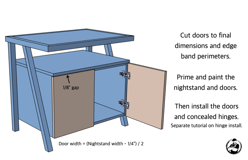 DIY Large Nightstand with Charging Shelf Plans Step 6
